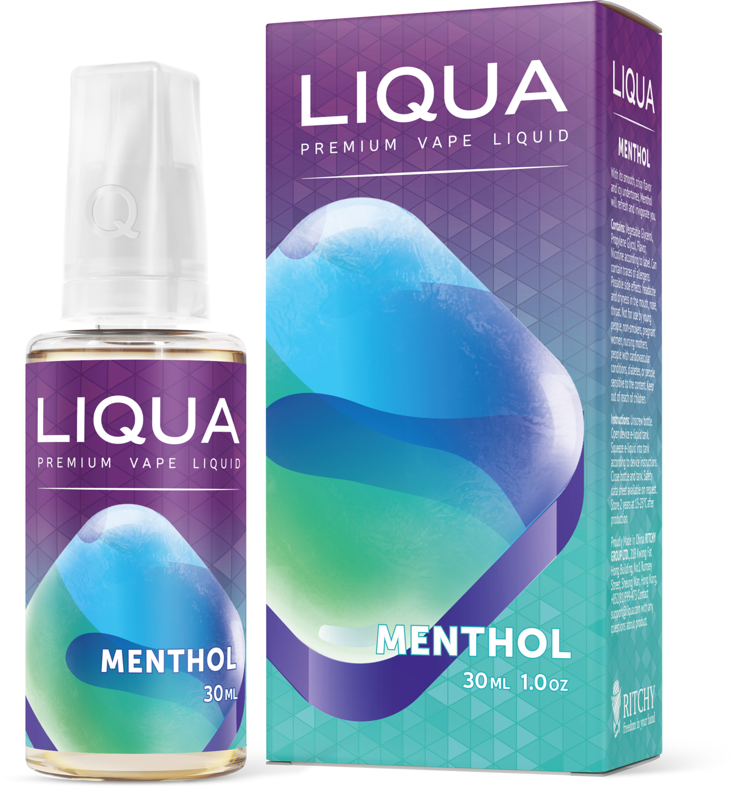 Liqua Elements Menthol 30ml PG+VG 0mg
