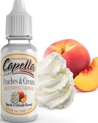 13ml Príchuť Capella - Broskyňa so šľahačkou / Peaches and Cream