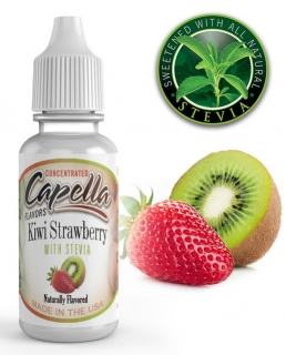 13ml Capella - Kiwi a jahoda so Steviou / kiwi Strawberry with Stevia