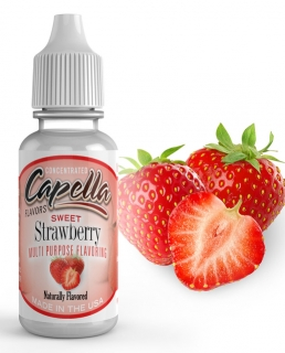 13ml Capella - Jahoda / Sweet Strawberry Rf