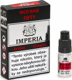 Imperia Nico Base Fifty PG50/VG50 18mg 5x10ml